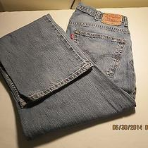 Mens Levis 569 Relaxed Straight Fit  Jeans Size 38 X 36  Photo