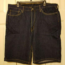 Mens Levis Dark Denim Wash Jean Shorts Size 38 Inseam 10