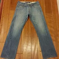 Mens Levis Straight Fit Twisted Seam Jeans Light Wash 30x32 W30 L32 Unique Rare  Photo