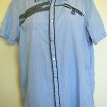 Mens Light Blue Striped Shirt by Inc International Concepts Size S Photo