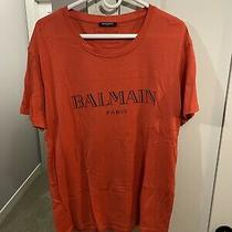 Mens Light Red Balmain T Shirt Xl Photo