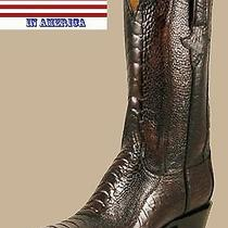 Mens Lucchese Classics Antique Cigar Ostrich Leg Boots L1380 Photo
