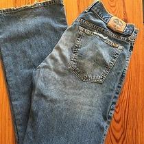 Mens Lucky Brand Dungarees Denim Jeans 32 Fender  Photo