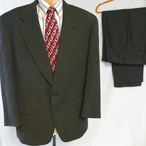 Mens Luxury Austin Reed London England Suit for Hudson's Dk Gray - Size 44r  Photo