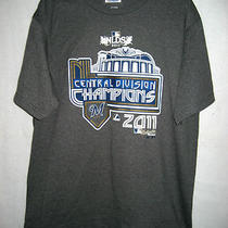 Mens Majestic Dk. Heather Gray Nlds 2011 Div. Champions T-Shirt -Size Large-Nwot Photo