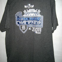Mens Majestic Heather Gray 2011 Alds Div. Champions T-Shirt -Size Large - Nwot Photo