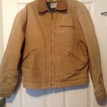 Mens Med Carhartt Beige Jacket Pre Owned as Is  With Paint Spot Photo