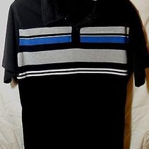 Mens Medium Hurley Striped Cotton Short Sleeve Polo Shirt /top  Photo
