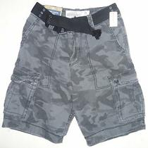 Mens Men's Aeropostale Belted Camo Cargo Shorts Size 28 Nwt 0803 Photo