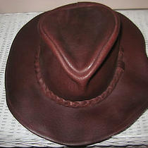Mens Minnetonka Buffalo Leather Western Cowboy Hat Size Xl Photo