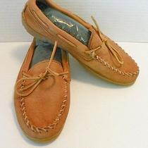 Mens Minnetonka Moccasin Slipper Shoe Super Soft Leather Gum Soles Size 11 Photo