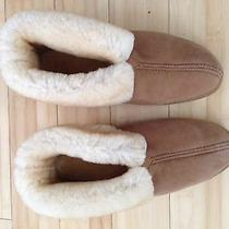 Mens Minnetonka Moccasins 11 Shearling Suede Fur Lined Gum Sole Photo