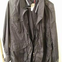 Mens Moncler Jacket Size 6 Large Xl Navy Blue Field Jacket Windbreaker Pristine Photo