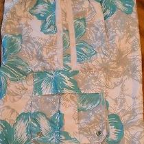 Mens Mossimo Green White Gray Tropical Board Shorts Swim Trunks Size Xl Euc Photo