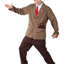 Mens Mr . Bean Television Movie Character Funny Fancy Dress Costume Outfit Photo
