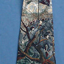 Mens Neck Tie Civil War Tango Max Raab Silk Americana Rebel Yell Artwork 4
