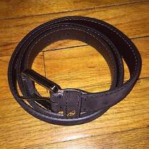 Mens New 425 Brioni Suede Brown Leather Belt Gucci Prada Fendi Armani Hermes Photo