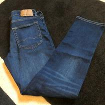 Mens New Ae American Eagle Slim Straight Airflex Dark Denim Jeans Sz 31 X 32 Photo