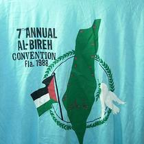Mens New Aqua Blue Vintage Palestine Peace Al-Bireh 1988 T Shirt Size Xl 44 Photo