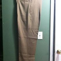 Mens New Brown Dkny 100% Wool Dress Pants Cuffs W/pleats Size 38/32 Photo