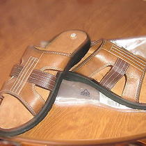 Mens  New in Bag Sandal Flip Flop Shoe u.s.sz 10 Leather-Like Suede-Like Brown Photo