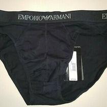 Mens New Nwt Emporio Armani Black Short Side Brief Underwear 28 in Waist Unstr Photo