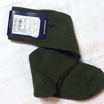Mens New Polo Ralph Lauren Dark Green Cotton Blend Dress Socks Shoe Sz6-12.5 Photo