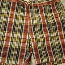 Mens New With Tags Polo Ralph Lauren Plaid Cotton/nylon Board Shorts Size Xxl Photo
