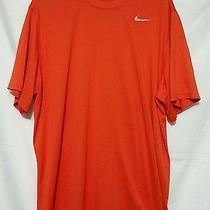 Mens Nike Dri Fit Orange Fitness Athletic Shirt Xxl 2xl   Photo