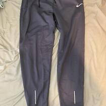 Mens Nike Dri Fit Therma Medium Jogger Blue Reflective Tapered Pants Photo