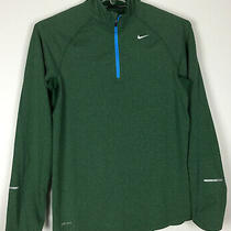 Mens Nike Element Running 1/4 Zip Pullover Small Green Polyester Blend Photo