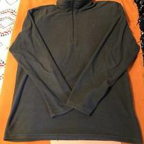 Mens North Face 1/4 Zip Fleece Pullover Large Dark Gray Photo