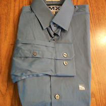 Mens Nwot Express Fitted Med. Blue Dress Shirt  Sz Xs Photo