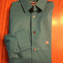 Mens Nwot Express Fitted Teal Green Dress Shirt  Sz S Photo