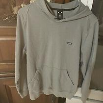 Mens Oakley Dark Gray Logo Hoodie Hooded Sweatshirt  Xl Extra Large Photo