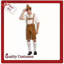 Mens Oktoberfest Lederhosen Bavarian German Beer Hansel Fancy Dress Costume Photo