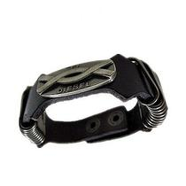 Mens or Womens Diesel Leather Bracelet - Black -Infinity - Very Cool Style - New Photo