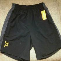Mens Orange Theory Black Splat Shorts Size Medium...new With Tags Photo