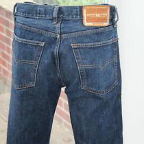 Mens Original Diesel W32 L32 Kratt Dark Blue Straight Leg Jeans 32r Indigo Photo