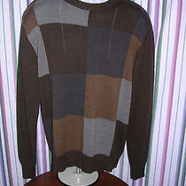 Mens Oscar Delarenta Sweater Size Medium 55% Cotton 45% Acrylic Photo