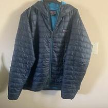 Mens Patagonia Blue Down Hooded Hoody Zip Jacket Xl Photo