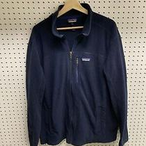 Mens Patagonia Blue Fleece Zip Up Jacket Sz Xl Photo
