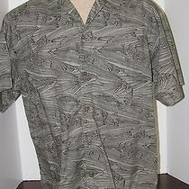 Mens Patagonia Shirt Size L Green Fish Photo