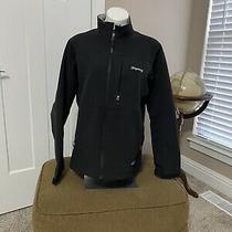 Mens Patagonia Soft Shell Polartec Windbloc Full Zip Jacket Black Size Large- Photo