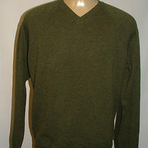 Mens Patagonia v-Neck Sweater Size Xl Wool Cashmere Olive Green Solid Photo
