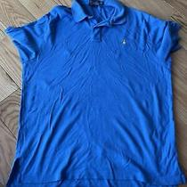 Mens Polo by Ralph Lauren S/s Polo/golf Shirt Size Xl- Light Blue - Cotton Photo