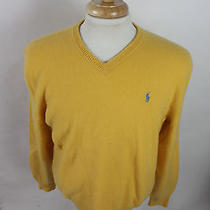 Mens Polo Ralph Lauren Black Lambs Wool v Neck Pony Sweater X Large K15 Photo