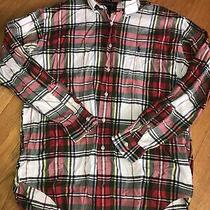 Mens Polo Ralph Lauren Blake Plaid Long Sleeve Shirt Red/white Size Med Photo