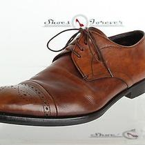 Mens Prada Designer Brown Leather Oxfords Shoes Sz. Eu 7 670 Photo