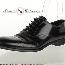 Mens Prada Stylish Black Leather Oxfords Shoes Sz. 8 Excellent  Photo